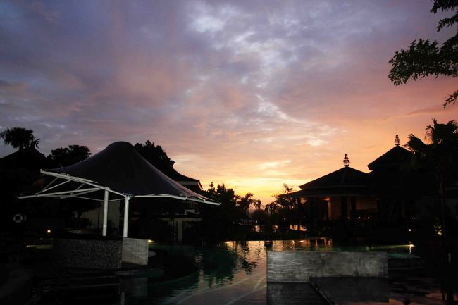 Sunset from the resort